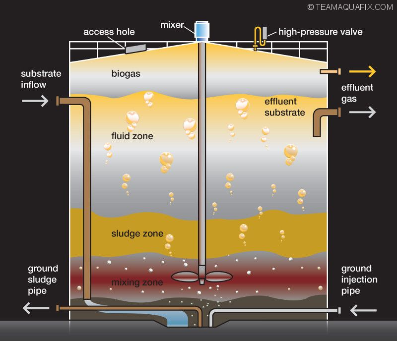 anaerobic digester diagram